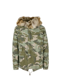 Mr & Mrs Italy Camouflage Short Parka
