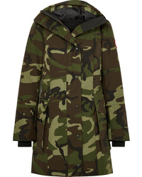 Canada Goose Kinley Hooded Quilted Camouflage Print Shell Down Parka