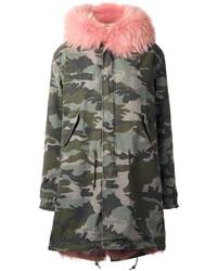 Mr Mrs Italy Camouflage Parka Coat