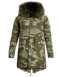 Mr Mrs Italy Fur Lined Canvas Parka