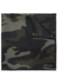 Tom Ford Camouflage Print Silk Twill Pocket Square