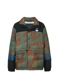 Off-White Camouflage Padded Coat