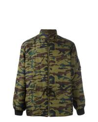 Jean Paul Gaultier Vintage Camouflage Padded Jacket Green