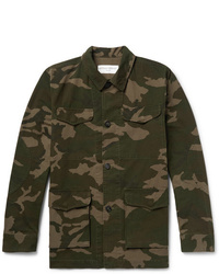 Officine Generale Camouflage Print Cotton And Nylon Blend Ripstop Jacket