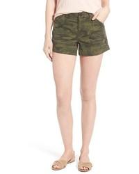 Olive Camouflage Shorts
