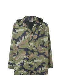 Olive Camouflage Windbreaker