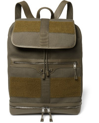 Traveller leather and felt trimmed canvas backpack medium 609693
