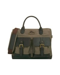 Tommy Bahama Big Island Briefcase Olive Dark Brown One Size