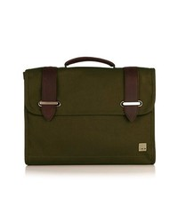 KNOMO London Padstow Briefcase Olive Green None
