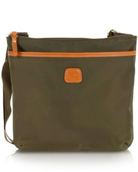 Olive Canvas Crossbody Bag