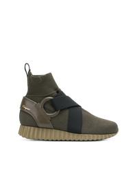 Salvatore Ferragamo Slip On Sock Boots