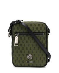 Versus Logo Zipped Messenger Bag