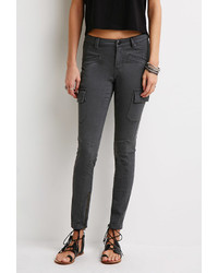 Olive Cargo Pants: Forever 21 Zippered Cargo Pants