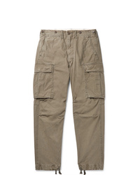 RRL Slim Fit Tapered Washed Cotton Cargo Trousers
