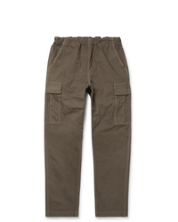 orSlow Tapered Cotton Canvas Cargo Trousers