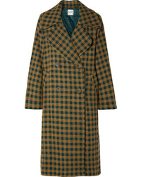 Sea Ethno Pop Oversized Checked Wool Blend Coat