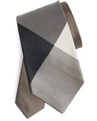 Burberry Textured Check Silk Tie