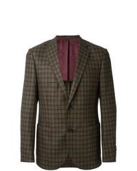Olive Check Wool Blazer