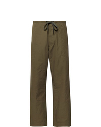 Chimala Cropped Wide Leg Cotton And Linen Blend Twill Drawstring Trousers
