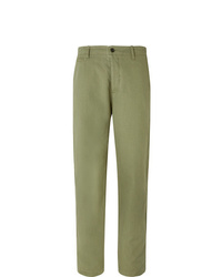 YMC Duke Cotton And Linen Blend Trousers
