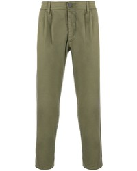 Two Denim Fitted Chino Trousers