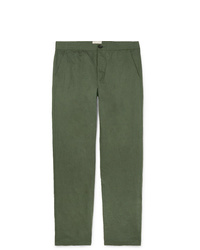 Oliver Spencer Linen And Cotton Blend Canvas Trousers