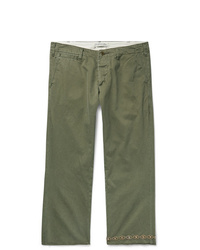 Remi Relief Studded Cropped Cotton Twill Chinos