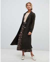 New Look Bar Back Maxi Coat