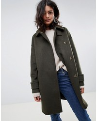 ASOS DESIGN Coat In Twill With Neck