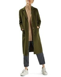 Topshop Snap Button Three Quarter Coat