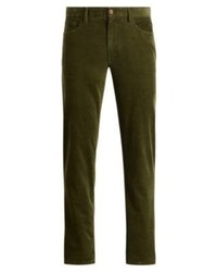 Olive Corduroy Chinos