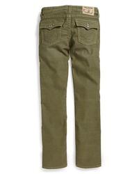 True Religion Brand Jeans Jack Straight Leg Corduroy Jeans Surplus Green 12