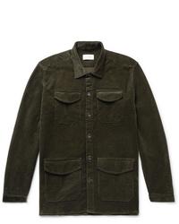 Oliver Spencer Cotton Blend Corduroy Shirt Jacket