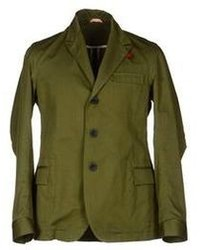 Olive Cotton Blazer