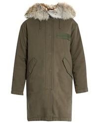 Fur trimmed cotton canvas parka medium 720670