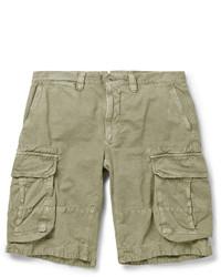 Incotex Cotton And Linen Blend Cargo Shorts