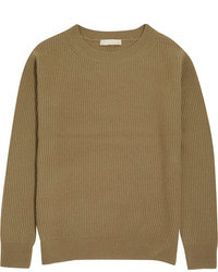 Olive Crew-neck Sweater