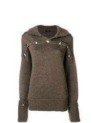 Joseph Button Detail High Neck Sweater