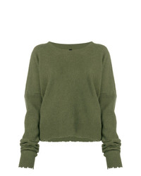 Unravel Project Frayed Knit Sweater