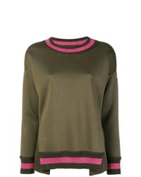 Moncler Lurex Stripe Trim Sweater