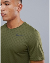 Nike Training Breathe Vent T Shirt In Khaki 886742 395