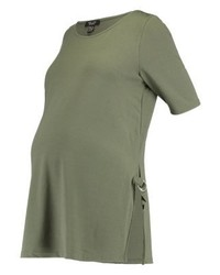 New Look Print T Shirt Khaki