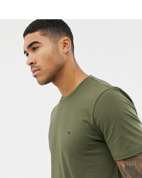 Calvin Klein T Shirt With Small Logo Olive Night At Asos