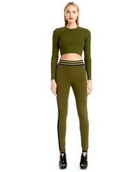 Olive Cropped Top