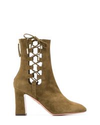 Aquazzura Cut Out Detailed Boots
