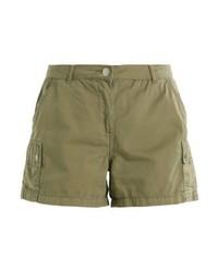 Dorothy Perkins Utility Denim Shorts Green