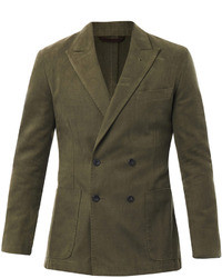 Olive Double Breasted Blazer