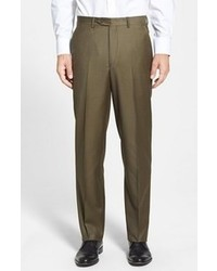Luxury flat front wool trousers medium 96699