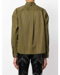 Rag & Bone High Low Cropped Shirt