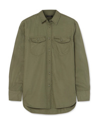 J.Crew Oversized Cotton Twill Shirt